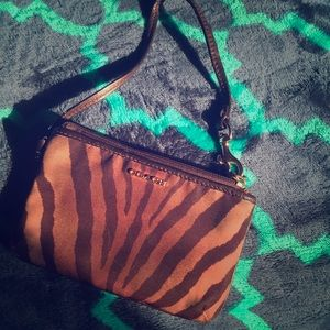 Tiger Stripe Coach Wristlet